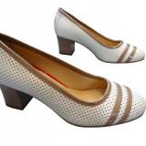 Incaltaminte dama piele naturala Allegro-538 b - Pantof dama, Culoare: Bej, Marime: 37, Cu talpa joasa