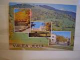 CARTE  POSTALA - ROMANIA - VALEA  JIULUI - CIRCULATA , TIMBRATA .