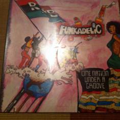 "funkadelic one nation under a groove disc vinyl funk soul jazz rock cu single 7"""