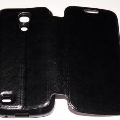 Husa Protectie Tip carte Toc Flip Cover Samsung Galaxy S4 Mini i9190 + Folie de Protectie CADOU!!! - Husa Telefon Samsung, Negru, Piele Ecologica, Cu clapeta