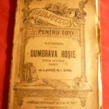 V.Alescandri - Dumbrava Rosie - poem Eroic -, anii '20, BPT nr 192, Ed. Alcalay - Carte veche