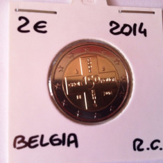 Moneda BELGIA 2 euro comemorativa 2014-Crucea Rosi, UNC, Europa, Cupru-Nichel