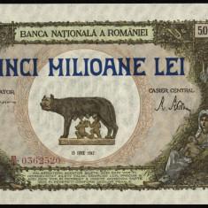 Z607 BANCNOTA DE 5000000 LEI 1947 UNC - Bancnota romaneasca