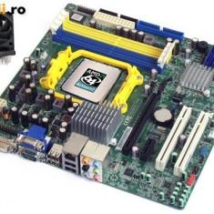 KIT PLACA DE BAZA AM2 ACER M420 + DUAL CORE X2 5400B 2x2.80GHZ+COOLER | GARANTIE, Pentru AMD, DDR2, Contine procesor, MicroATX