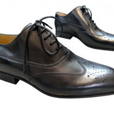 Incaltaminte barbati piele naturala Denis-2561 n - Pantofi barbat, Marime: 41, Culoare: Nero, Negru
