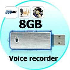 Stick Reportofon Spionaj 8GB | Autonomie 18 ORE|100 ORE Inregistrare, GARANTIE! foto