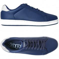 Adidasi originali barbati Kappa_din piele_albastru_in cutie