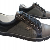 Incaltaminte barbati piele naturala Relin-Reflex n - Pantofi barbat, Marime: 41, Culoare: Nero, Negru