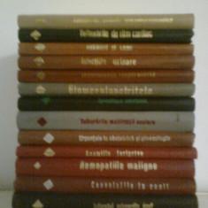 Colectia CUM TRATAM (16 Vol.) - N. ANGELESCU -COLECTIV (1968-1978) - Carte Obstretica Ginecologie