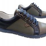 Incaltaminte barbati piele naturala Relin-Reflex bl - Pantofi barbat, Marime: 40, Culoare: Bleumarin, Negru