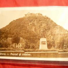 Ilustrata - Deva - Portul si Cetatea, interbelica - Carte Postala Transilvania pana la 1904, Necirculata