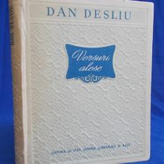 DAN DESLIU - VERSURI ALESE - BUCURESTI - 1953