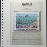 DOMINICA 1998 - FAUNA MARINA  9 VALORI IN 1 M/SH, NEOBLITERATA CU CARTON PREZENTARE - DIMENSIUNEA 27/29 CM. - E2610