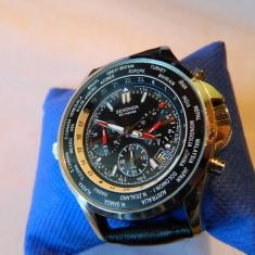 Ceas barbatesc SEKONDA World Timer, Chronograph 50 M, Casual, Quartz, Inox, Cronograf