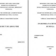 LICENTA A.M.G. - INGRIJIREA PACIENTILOR CU RUJEOLA (+ prezentare Power Point)