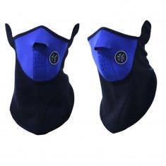 Masca protectie fata din neopren, pt paintball, ski, airsoft, cagula albastra