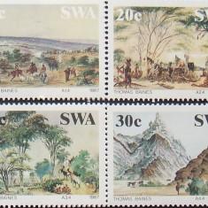 S. W. AFRICA 1987 - PICTURA 4 VALORI, NEOBLITERATE - AS 105