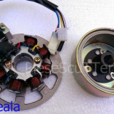 Magnetou / Aprindere / Stator + Volanta scuter Rex Escape / Rexy / Silverstreet ( 49cc - 50cc - 80cc )