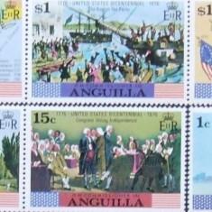 ANGUILLA - BICENTENAR USA 6  VALORI , NEOBLITERATE - E0588