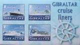 GIBRALTAR  - VAPOARE DE LINIE 4 VALORI IN M/SH, NEOBLITERATA - GB 009