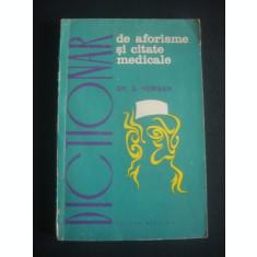 DR. S. HERISAN - DICTIONAR DE AFORISME SI CITATE MEDICALE