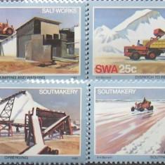 S. W. AFRICA 1981 - SALT WORKS 4 VALORI, NEOBLITERATE - AS 106