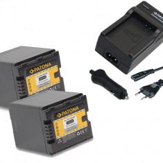 1 PATONA | Incarcator + 2 Acumulatori Panasonic VBN260 VBN260E VBN130 VW-VBN260 - Incarcator Aparat Foto