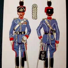MILITAR OFITER CAPITAN UNIFORMA GALA ANII 1911 - 1922, 159 x 112 mm, model 1 ** - Fotografie veche
