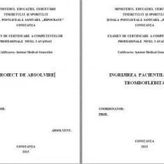 LUCRARE DE LICENTA A.M.G. - INGRIJIREA PACIENTULUI CU TROMBOFLEBITA