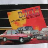 DACIA, INSTRUCTIUNI DE FOLOSIRE ANII 90
