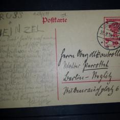 Carte postala circulata 1919 Germania Lommatzsch