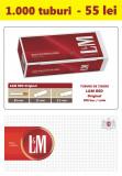 1.000 tuburi de tigari LM rosu Original pentru injectat tutun