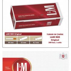 1.000 tuburi de tigari LM rosu Original pentru injectat tutun - Foite tigari