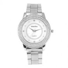 Ceas dama ALIAS KIM (SUA) by FOSSIL argintiu cu pietre cristale albe elegant, Lux - elegant, Quartz, Inox, Analog