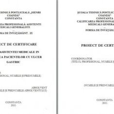 LUCRARE DE LICENTA A.M.G. - ROLUL ASISTENTEI MEDICALE IN INGRIJIREA PACIENTILOR CU ULCER GASTRIC