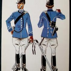 MILITAR OFITER LOCOTENENT IN UNIFORMA DE CAMPANIE ANII 1911 - 1914 model 7 ** - Fotografie veche