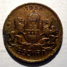 1.520 UNGARIA JETON TRANSPORT TRAMVAI BUDAPESTA 1933 18mm - Jetoane numismatica