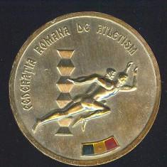 MEDALIE*PLACHETA*FEDERATIA ROMANA DE ATLETISM*CONCURS SALA INTERNATIONAL CUPA DE CRISTAL 1982