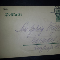 Carte postala circulata Germania 1910 Fulda Berlin, Printata