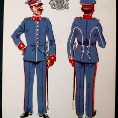 MILITAR OFITER COMANDANT REGIMENT UNIFORMA ZI ANII 1911 - 1922 model 4 ** - Fotografie veche
