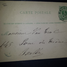 Carte postala circulata Belgia 1876 Bruxelles