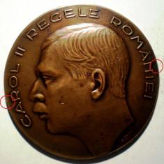 5.610 ROMANIA MEDALIE CAROL II MONETARIA NATIONALA 1935 GRAVOR I. JALEA 60mm - Medalii Romania