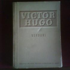 Victor Hugo Versuri. Editie de lux, legata, portret color de Marcela Cordescu - Carte de lux