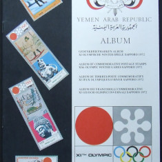 ALBUM FILATELIC - JOCURILE OLIMPICE SAPPORO 1972, EMISIUNI YEMEN