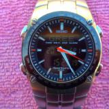 Seiko Sportura GMT - Ceas barbatesc Seiko, Quartz, Inox, Cronograf