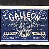 "ETICHETE DE CUTII DE CHIBRITE - RECLAMA - ""GALLEON"", SE29"