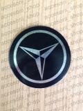 emblema capac roata MERCEDES NEGRU  90 mm