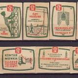ETICHETE DE CUTII DE CHIBRITE - UNGARIA set de 9 de etichete diferite legate de energia electrica -sfaturi de prevenirea accidentelor, SE12