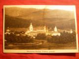 Ilustrata Manastirea Neamtu - Vedere Generala , circulat 1930 Ed. RH Morel