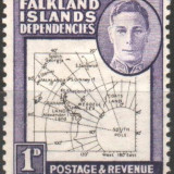 Anglia / Colonii, FALKLAND ISLANDS DEPENDENCIES, 1946, nestampilate, MH